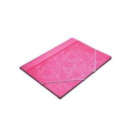 Pergamy Pergamy Mandala elastomap met kleppen, ft A4, roze [25st]