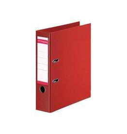 Pergamy Pergamy ordner, voor A4, volledig uit PP, rug van 8 cm, rood