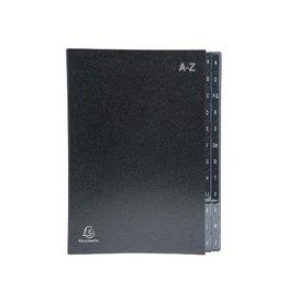 Exacompta Exacompta sorteermap Ordonator 24 vakken met tabs A-Z, zwart