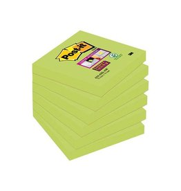 Post-It Super Sticky Post-it Super Sticky Notes Neon, 76x76mm, kerrie, 6 blokken