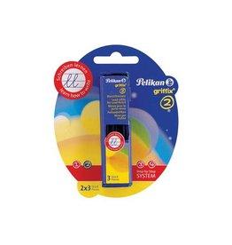 Pelikan Pelikan potloodstiften 2mm Griffix, 2 doosjes met 3st [8st]