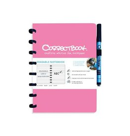 Correctbook Correctbook a5 gelijnd herbruikbaar schrift, roze