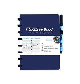 Correctbook Correctbook a5 gelijnd herbruikbaar schrift, navy blauw