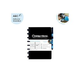 Correctbook Correctbook a5 gelijnd herbruikbaar schrift, zwart
