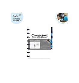Correctbook Correctbook A5 gelijnd uitwisbaar / herbruikbaar schrift wit