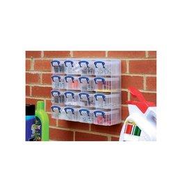 Really Useful Box Really Useful Box muurkubus 16 opbergdozen 0,3l, transparant