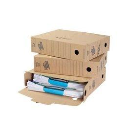 Loeffs Loeff's archiefdoos voor A4 345x25x8 cm bruin pak van 8st