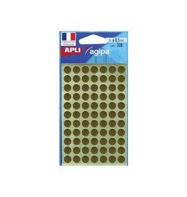 Agipa Agipa ronde etiketten in etui diam. 8mm goud 308st 77/blad