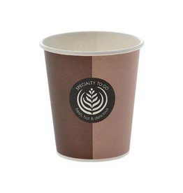 Merkloos Drinkbeker coffee to go uit karton 200ml diameter 80mm 80st