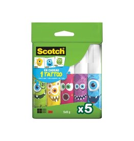 Scotch Scotch lijmstift monster permanent van 5x8g 2 clipstrips