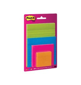Post-it Post-It Super Sticky Notes, assorti en formaten, blister 4