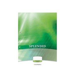 Splendid Aurora Splendid cursusblok A4 70g/m² 2-gaats. gelijnd 100vel