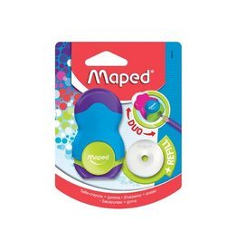 Maped Maped potloodslijper+gom Loopy Soft Touch, 1 stuk [24st]