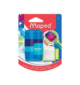 Maped Maped potloodslijper + gom Connect Soft Touch [24st]