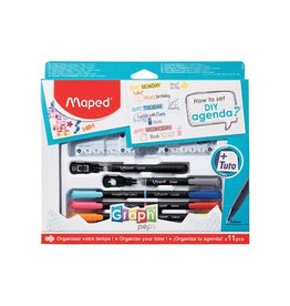 """Maped Maped """"how to agenda""""-set, 11-delige ophangdoos [6st]"""