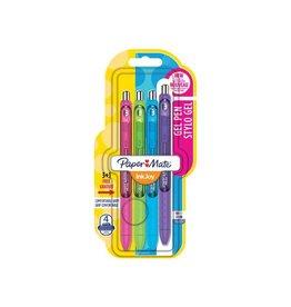 Paper Mate Paper mate roller inkjoy gel blister 3+1 gratis
