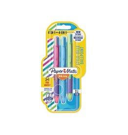 Paper Mate Paper Mate 4-kleuren balpen Inkjoy Quatro Joie De Vivre 2+1