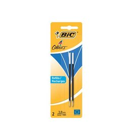 Bic Bic vulling voor balpen 4 colours medium 2st blauw