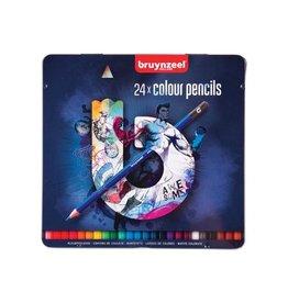 Bruynzeel Bruynzeel kleurpotloden dark, metalen doos van 24 stuks