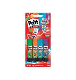 Pritt Pritt plakstift fun colors 10 g, blister van 4 stuks