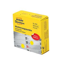 Avery Zweckform Avery marking dots, diameter 10 mm, rol met 800 stuks, geel