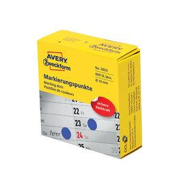 Avery Zweckform Avery marking dots, diameter 10 mm, rol met 800 stuks, blauw