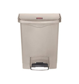 Rubbermaid commercial products Rubbermaid Slim Jim Step-On-container Front Step beige, 30 l