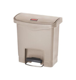 Rubbermaid commercial products Rubbermaid Slim Jim Step-On-container Front Step, beige 15 l