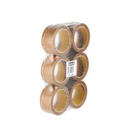 Scotch Scotch verpakkingsplakband Classic 50mmx66 m bruin 6 rollen