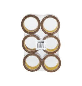 Scotch Scotch geluidsarme verpakkingstape 50mmx66 m bruin 6 rollen
