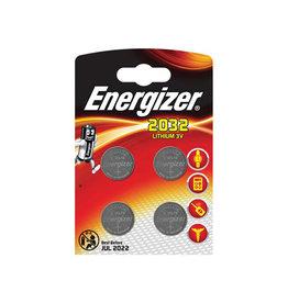 Energizer Energizer knoopcellen lithium CR2032, blister van 4 stuks