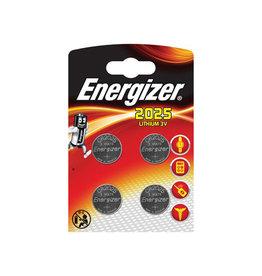 Energizer Energizer knoopcellen lithium CR2025, blister van 4 stuks