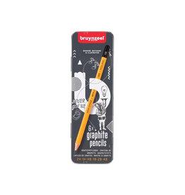 Bruynzeel Bruyzeel potlood, blikken doos met 6st in assorti hardheden