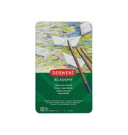Derwent Derwent aquarelpotlood Academy , blik van 12st in assorti