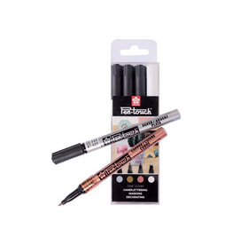 Sakura Sakura paint marker Pen-Touch, set van 4st in assorti