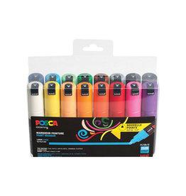 Posca Posca paintmarker PC-7M, set van 16 st. in geassorteerde kl.