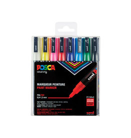 Posca Posca paintmarker PC-3M, set 8 markers in assorti