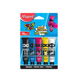 Maped Maped plakkaatverf Color'Peps, 12 ml, 5 tubes op blister