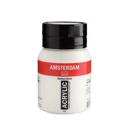 Talens Amsterdam acrylinkt, flesje van 500 ml, titaanwit