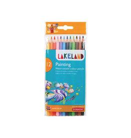 Derwent Lakeland aquarelpotlood, 12 stuks in geassorteerde kleuren