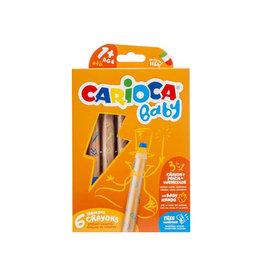 Carioca Carioca kleurpotlood Baby 3-in-1, doos van 6st in assorti