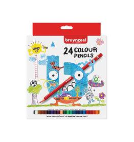 Bruynzeel Kids Bruynzeel Kids kleurpotloden, set van 24st in assorti