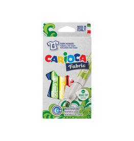 Carioca Carcioca textielstift Fabric, doos van 6st in assorti [12st]