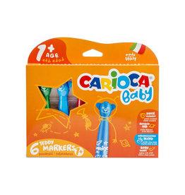 Carioca Carioca viltstift Baby Teddy, doos van 6st. in geas. kleuren