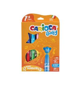 Carioca Carioca viltstift Baby Teddy doos van 12st. in geas. kleuren