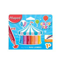 Maped Maped waskrijt Color'Peps Early Age, doos 12st in assorti