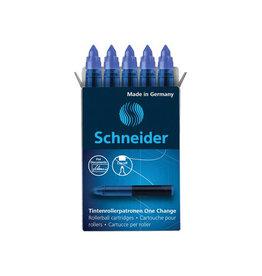 Schneider Schneider vulling One Change, doos van 5 stuks, blauw [10st]