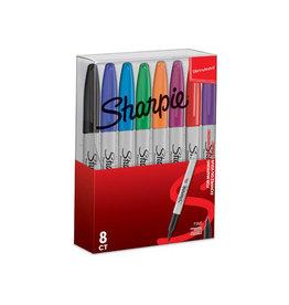 Sharpie Sharpie permanente marker, fijn, etui van 8st in assorti