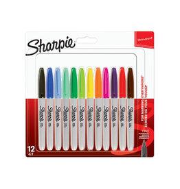 Sharpie Sharpie permanente marker fijn  12st. in geas. kl.