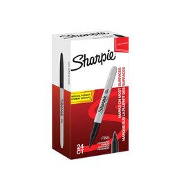 Sharpie Sharpie permanente marker fijn value pack 24st (20+4) zw.
